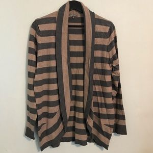 Brown and Gray Drappy Cardigan XL